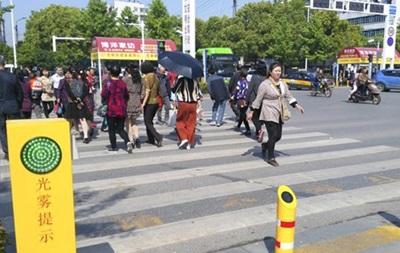 В Китае пешеходов-нарушителей будут обливать водой