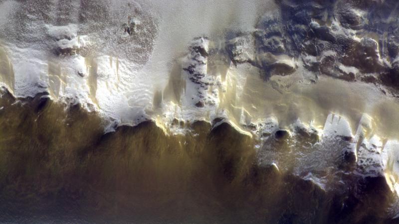 ESA показало, что горы на Марсе покрыты льдом.Вокруг Света. Украина