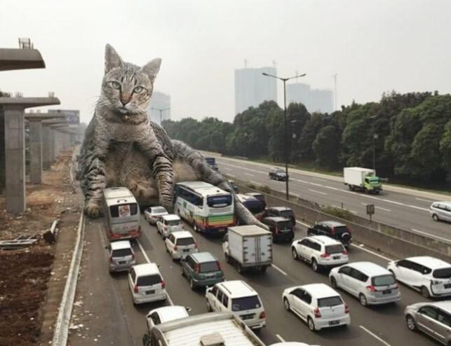 Индонезийский художник создал Котзиллу