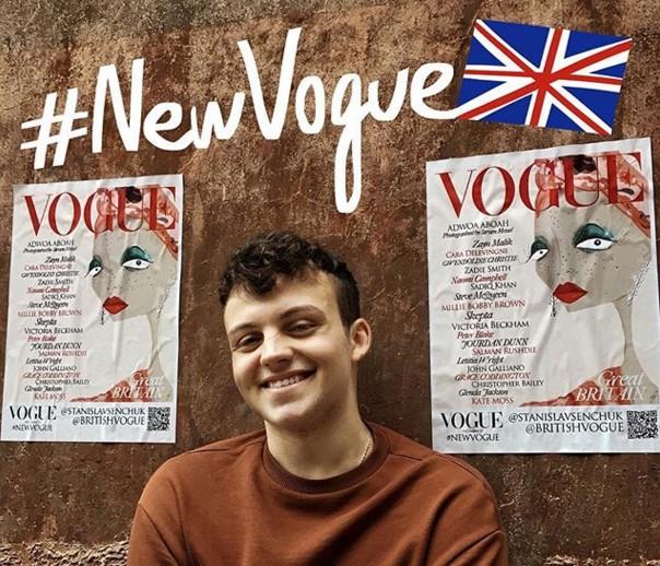 Рисунок украинца украсил обложку Vogue.Вокруг Света. Украина