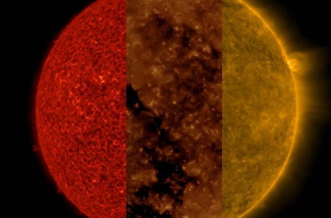 NASA обнародовала необычный снимок Солнца