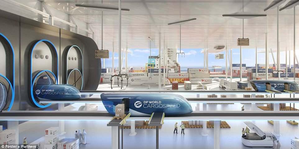 Ричард Брэнсон запустит в Дубае грузовую систему hyperloop к 2021 году Ричард Брэнсон запустит в Дубае грузовую систему Hyperloop к 2021 году 4BEFB03800000578 5698851 image a 8 1525681323007