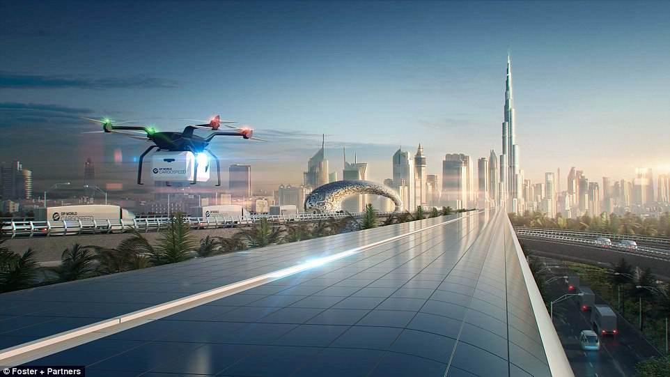 Ричард Брэнсон запустит в Дубае грузовую систему hyperloop к 2021 году Ричард Брэнсон запустит в Дубае грузовую систему Hyperloop к 2021 году 4BEFB08D00000578 5698851 image a 10 1525681330281