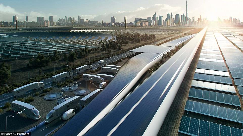 Ричард Брэнсон запустит в Дубае грузовую систему hyperloop к 2021 году Ричард Брэнсон запустит в Дубае грузовую систему Hyperloop к 2021 году 4BEFB0A000000578 5698851 image a 12 1525681332223