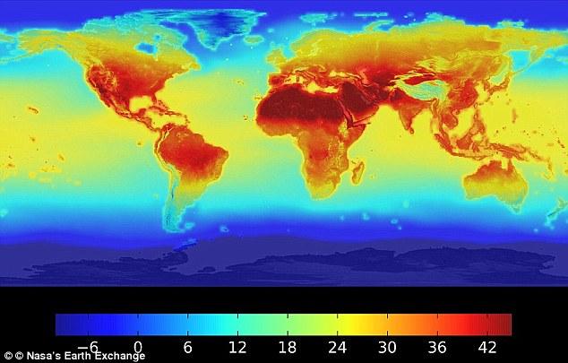 Ограничение глобального потепления до 1,5ºС спасет животных от вымирания Ограничение глобального потепления до 1,5ºС спасет животных от вымирания 4C5D386900000578 5741257 Pictured are projected temperature for July 2100  a 32 1526574165403