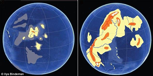 На что была похожа Земля 2,4 миллиарда лет назад? На что была похожа Земля 2,4 миллиарда лет назад? 4C886CB000000578 5758541 An exponential rise of land out of the ocean 2 4 billion years a a 64 1527085150957