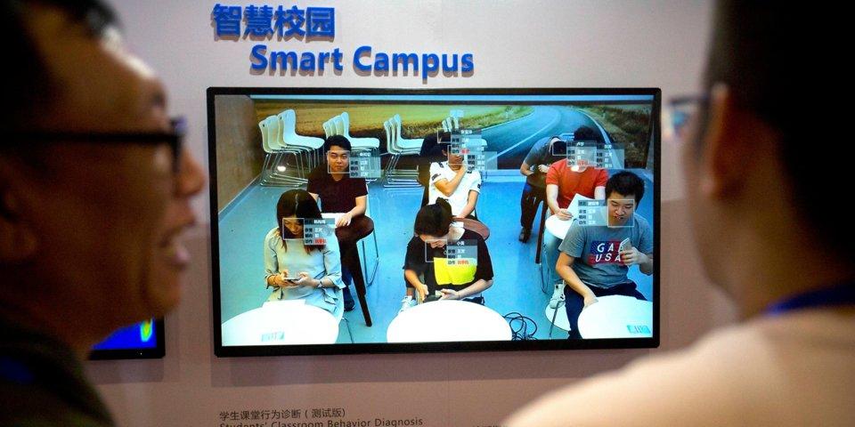 В китайских школах технология распознавания лиц помогает поддерживать дисциплину