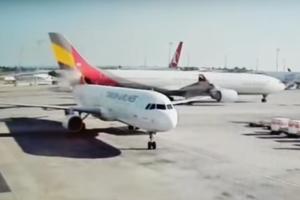 В аэропорту Стамбула не разминулись два самолета (видео)