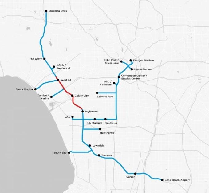 Илон Маск почти достроил туннель под Лос-Анджелесом Илон Маск почти достроил туннель под Лос-Анджелесом karta