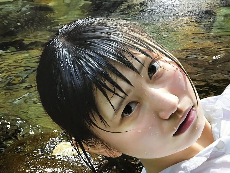 Японская художница создает картины-фотографии
