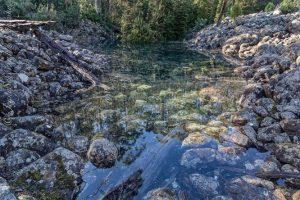 Озеро-призрак в Тасмании