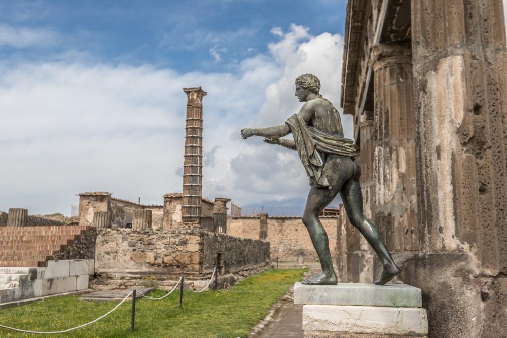 В Помпеях нашли погибшего при попытке сбежать от гнева Везувия