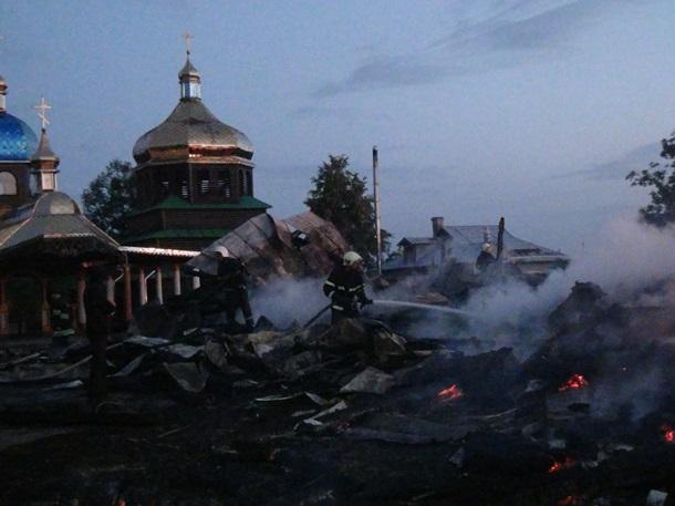 В Карпатах сгорела вековая церковь