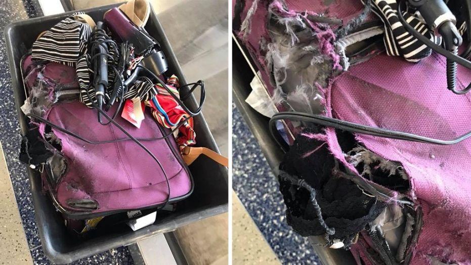 Порванный в клочья чемодан без половины вещей: пассажирка не узнала свой багаж