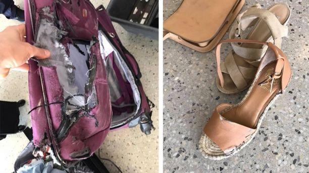 Порванный в клочья чемодан без половины вещей: пассажирка не узнала свой багаж Порванный в клочья чемодан без половины вещей: пассажирка не узнала свой багаж 1528247834187