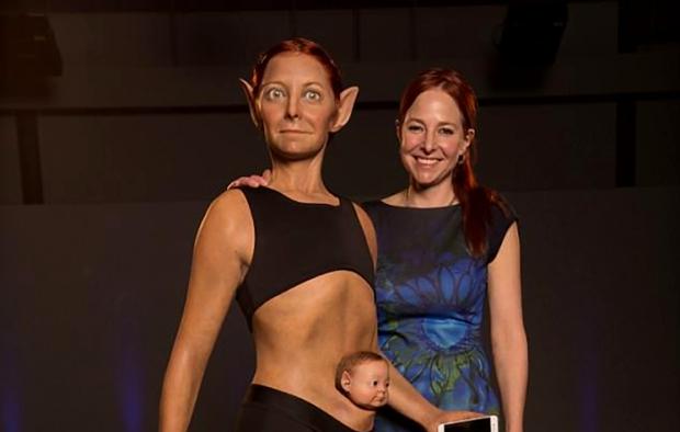 Уши как у эльфа и ноги как у страуса: ученые создали модель идеальной женщины