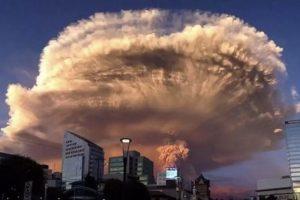 Японский остров Кюсю  засыпало пеплом