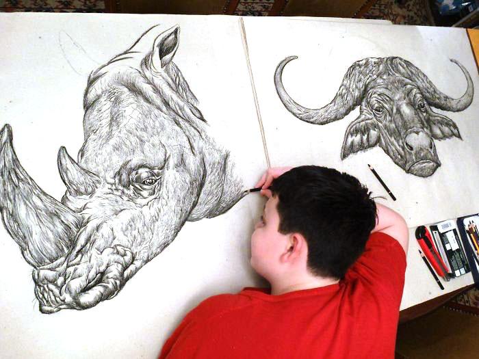 15-летний мальчик из Сербии проиллюстировал энциклопедию животных