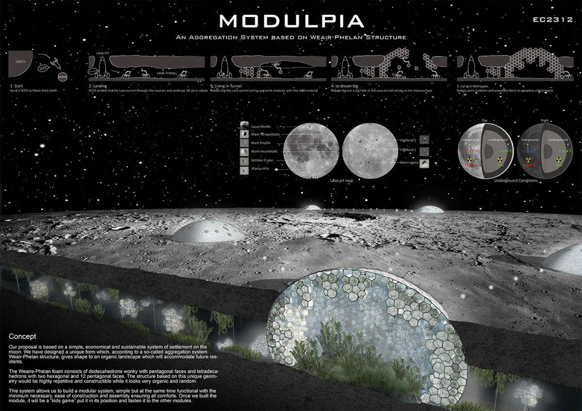 Формы внеземной жизни: выбран лучший проект города на Луне Формы внеземной жизни: выбран лучший проект города на Луне ec2312 1 3
