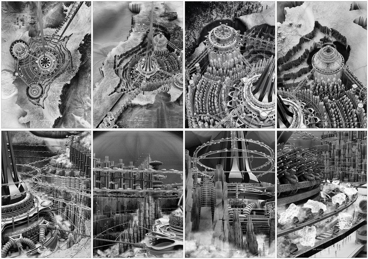 Формы внеземной жизни: выбран лучший проект города на Луне Формы внеземной жизни: выбран лучший проект города на Луне moontopia architecture space news dezeen 2364 col 0 0