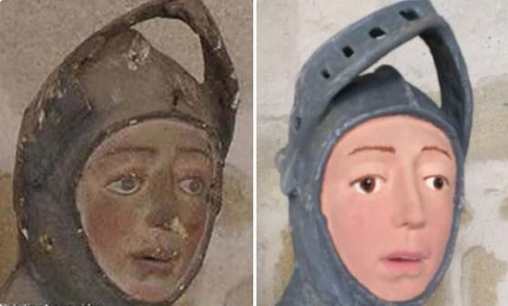 В Испании превратили средневековую скульптуру Георгия Победоносца в карикатуру