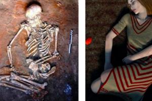 В Украине нашли древний скелет женщины с орнаментом на костях