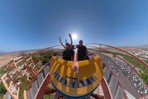 Экстремал снял поездку на американских горках в формате 360 градусов