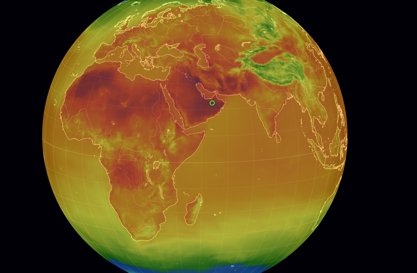 Летнюю жару показали на интерактивной карте