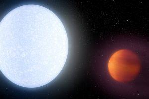 На самой горячей планете испаряется атмосфера