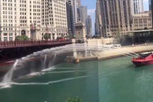 В Чикаго из-за жары мост перестал пропускать лодки