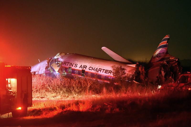 В ЮАР пассажир самолёта снял его крушение