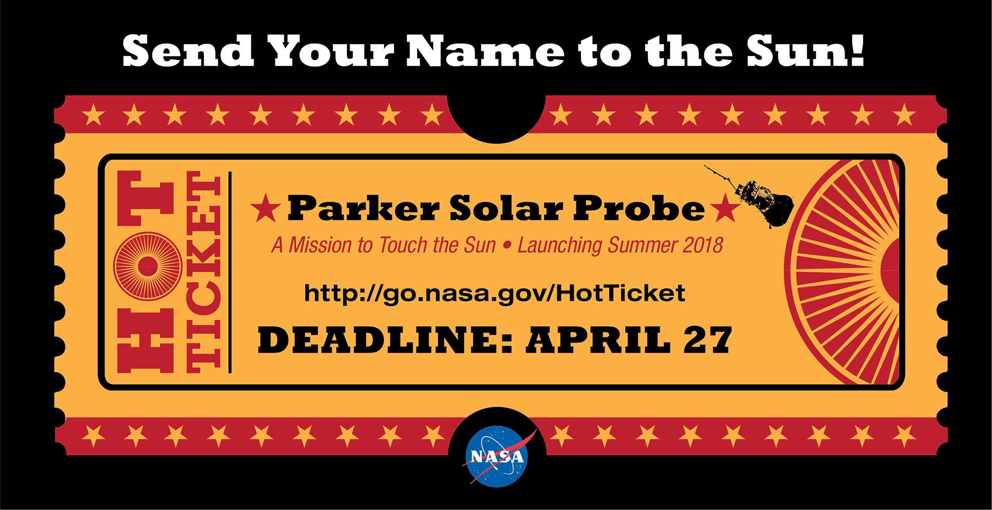 nasa готовится к запуску космического зонда на Солнце NASA готовится к запуску космического зонда на Солнце send your name to the sun shareable1 v22