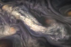Межпланетная станция  сфотографировала атмосферу Юпитера