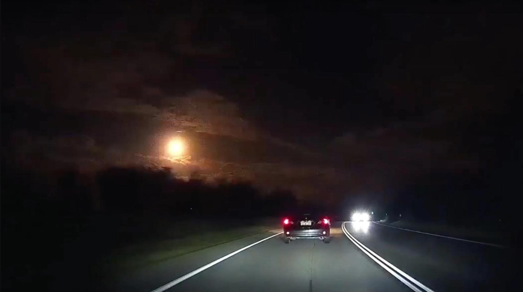 Над Австралией взорвался метеорит (видео)