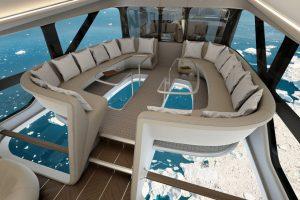 Ванна, бар и стеклянный пол: как выглядит самый большой в мире дирижабль