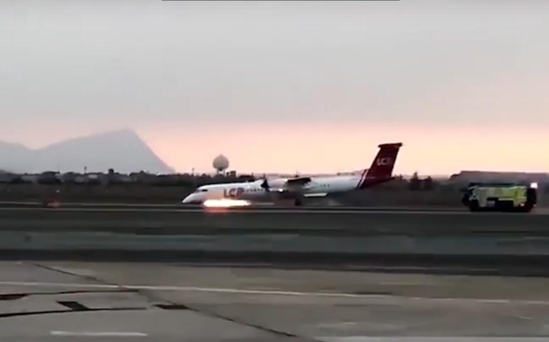 В Перу пилот посадил самолет без шасси
