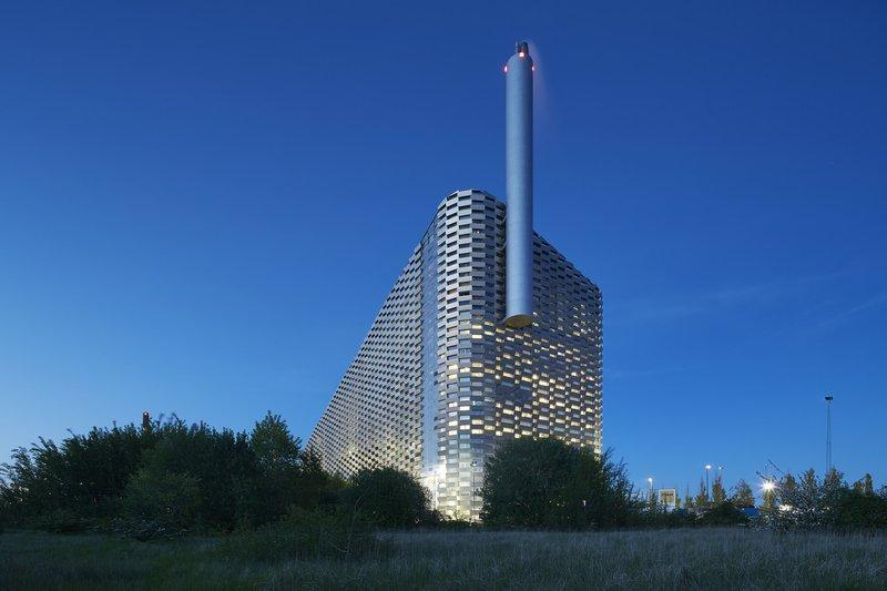 На крыше электростанции в Копенгагене откроют лыжную трассу