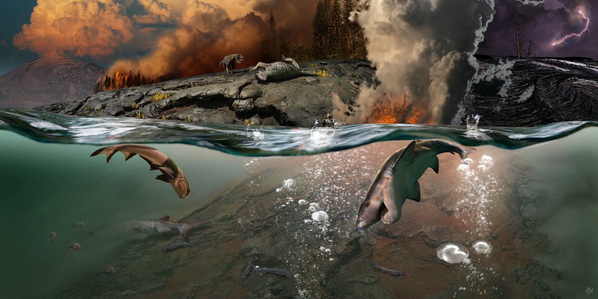 Крупнейшее массовое вымирание в истории было вызвано ядовитыми газами