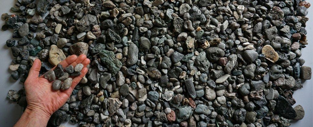Новая форма пластикового загрязнения выглядит как галька