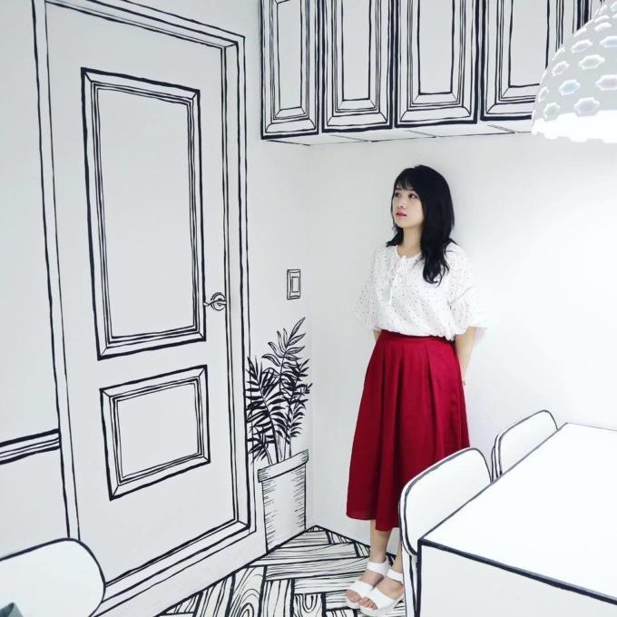 В Сеуле открыли нарисованное кафе В Сеуле открыли нарисованное кафе 2 12