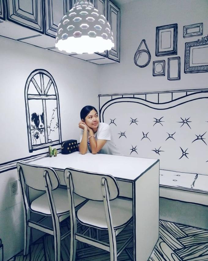 В Сеуле открыли нарисованное кафе В Сеуле открыли нарисованное кафе 5 8