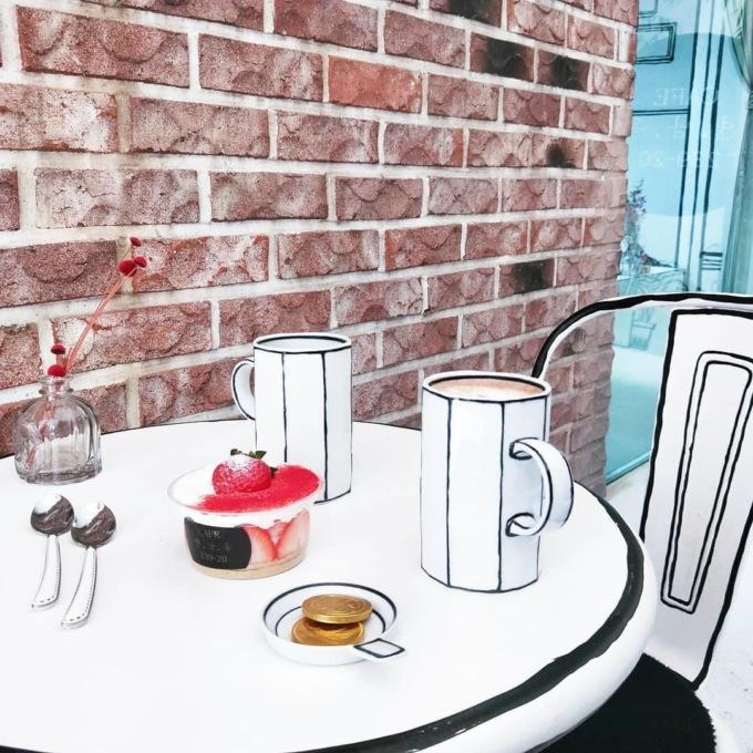 В Сеуле открыли нарисованное кафе В Сеуле открыли нарисованное кафе 6 9