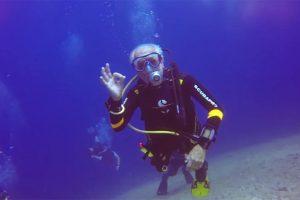 95-летний британский дайвер побил на Кипре свой собственный рекорд