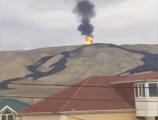 В Азербайджане проснулся грязевой вулкан