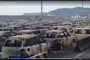 Непогода в Италии: сгорели сотни автомобилей