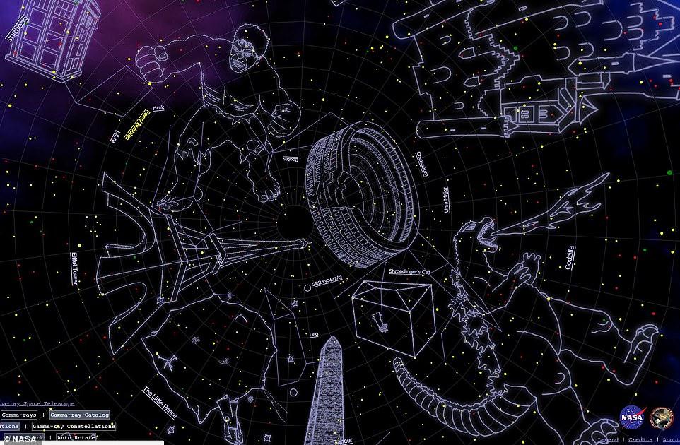 Кот Шрёдингера, Халк и Альберт Эйнштейн: NASA показало карту новых созвездий.Вокруг Света. Украина