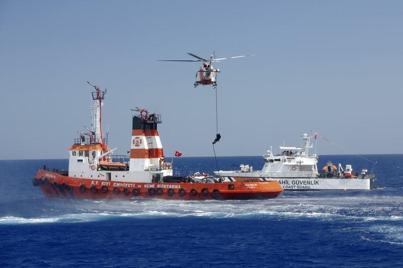 В Средиземном море столкнулись два корабля