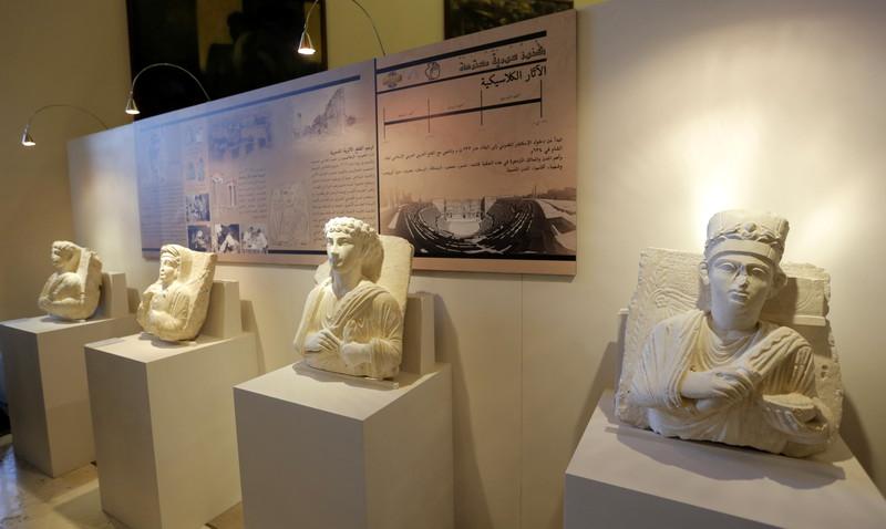 Сокровища Пальмиры: в Дамаске показали восстановленные реликвии