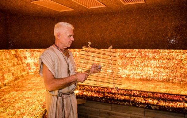 В Литве открыли первую в мире янтарную баню