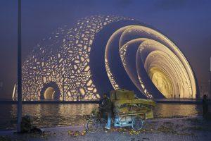 В Китае построят театр  в виде шара-головоломки